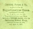 Dagherrotipo 069a - Etichetta del del produttore di astucci  ©Chiesa-Gosio
