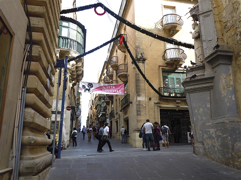Malta, La Valletta: l'incrocio tra King's Way e Britannia Street, dove è avvenuto l'omicidio, oggi.