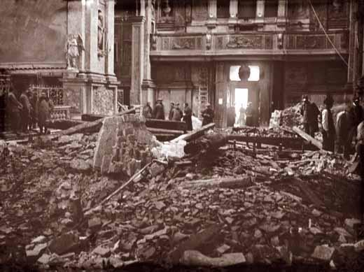 Venezia, Chiesa degli Scalzi dopo il bombardamento aereo