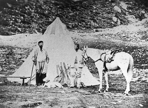 Re Vittorio Emanuele II a caccia sul Gran Paradiso