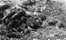Corpi di soldati austroungarici straziati dai bombardamenti. 1917